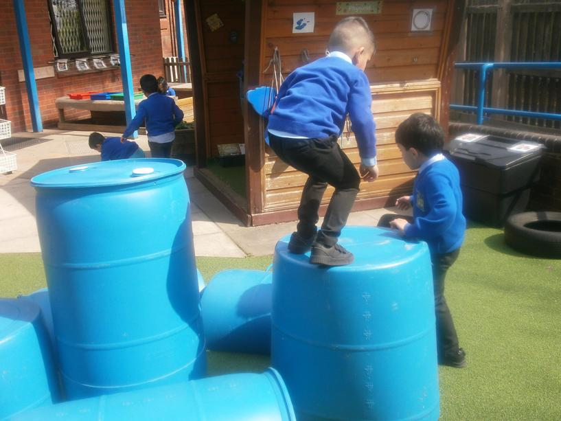 Physical development: Taking risk and building confidence.