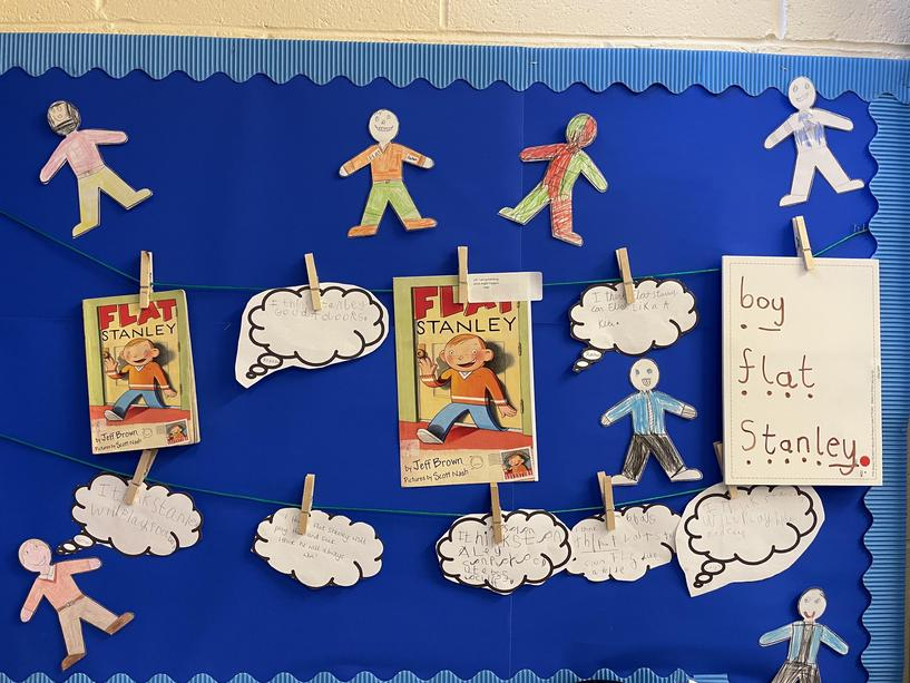 This week we have been looking at the book flat Stanley. We made our own flat Stanley's