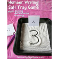 Mark numbers in salt (or flour or sand)
