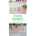Trace numbers with cotton buds and paint.