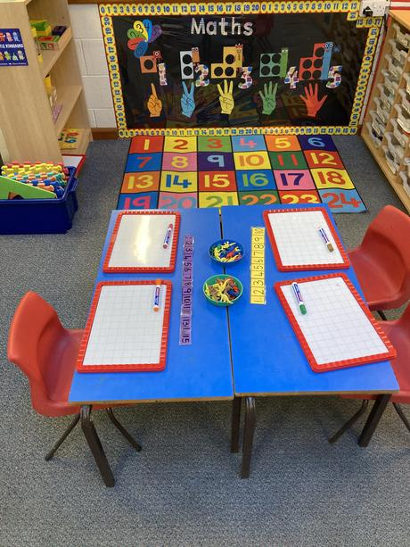 Come and count in our inviting maths area.