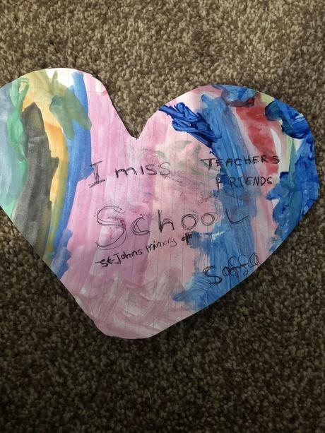 Saffa made this beautiful heart.