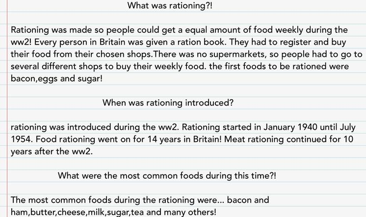 Rationing in WW2 by Imaan