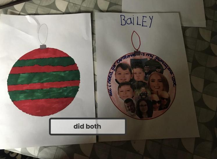 Christmas bauble by Bailey
