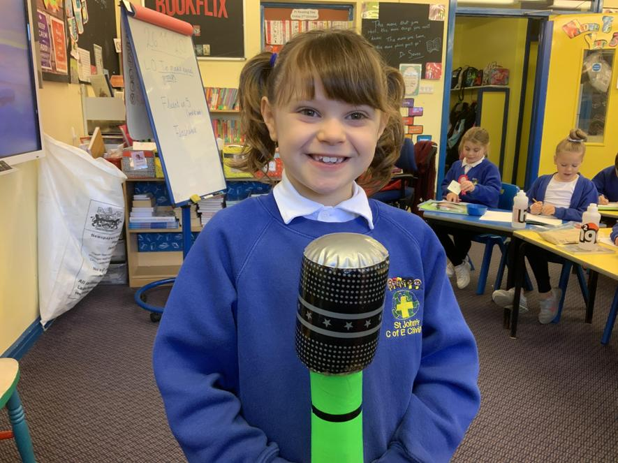 Well done Amy-Rose for your idea for our Zoom call for the whole school!