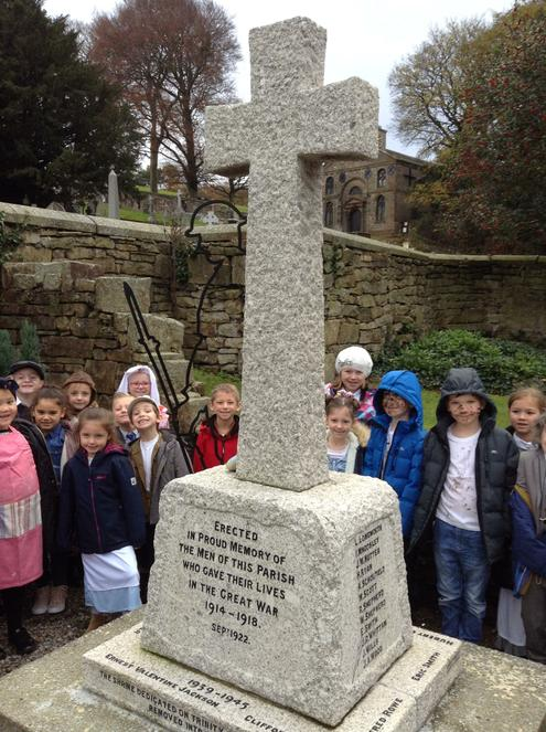 Visiting Cliviger war memorial.