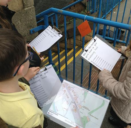 Orienteering to find characters in the Bible.