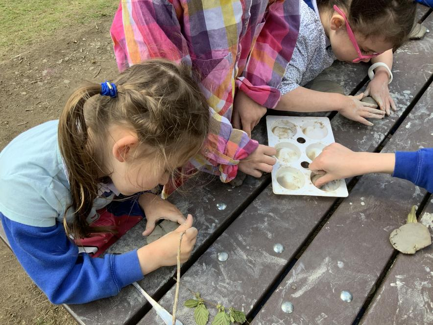 nature tiles with clay.