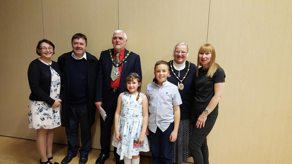 With the Mayor of Gedling and his wife