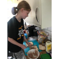 Emily making lunch