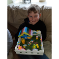 Finn's Easter garden. Can you spot the difference?