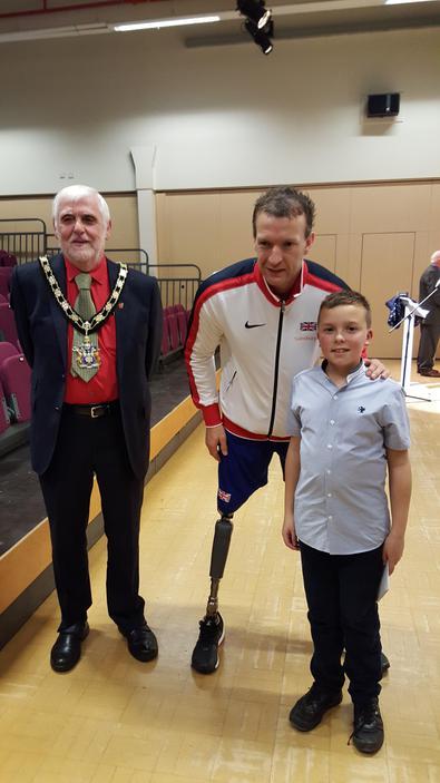 Thomas, Richard Whitehead & the Mayor of Gedling