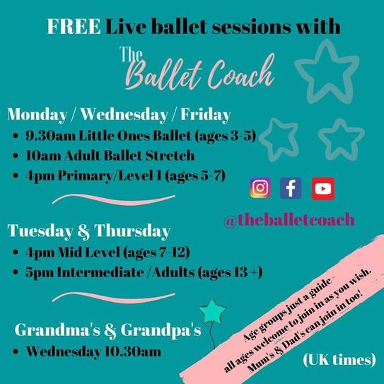 'The Ballet Coach' - dance in your home!