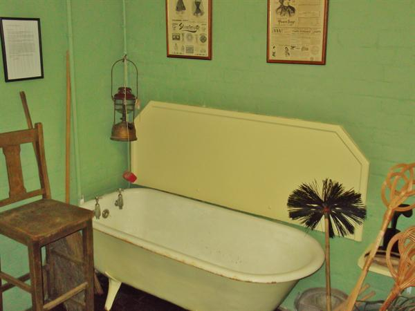 One of the original baths with carbolic soap