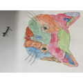 Watercolour dogs and cats inspired by local artist Natalie Thurman