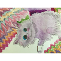 Kaleidoscope Cats inspired by artist Louis Wain