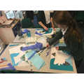 Collages inspired by Hokusai's 'The Great Wave off Kanagawa'