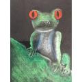 Amazon rainforest chalk art