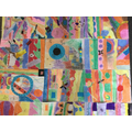 Large scale artwork inspired by Beatriz Milhazes