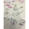Quentin Blake inspired illustrations