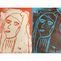 Andy Warhol inspired monoprinting