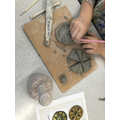 Anglo-Saxon inspired brooches using the 'score, slip and blend' technique