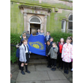 Sam helped with the flag of the Commonwealth