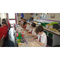 Making our statues of Alfred the Great.