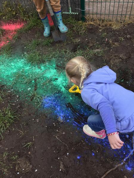 Mud painting and mixing