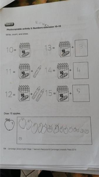 Amazing number work Robyn!