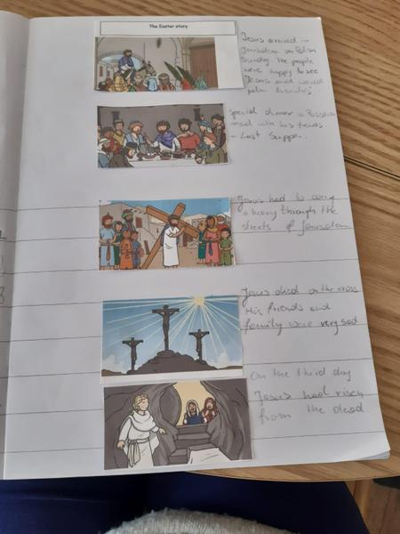 Hannah's RE lesson The Easter story, Fantastic!