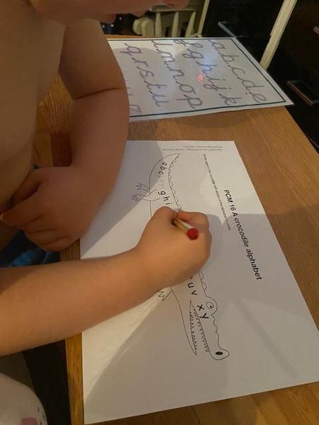 Great letter practice Hayden!
