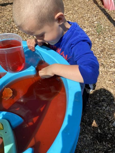 Alfie having water play fun!