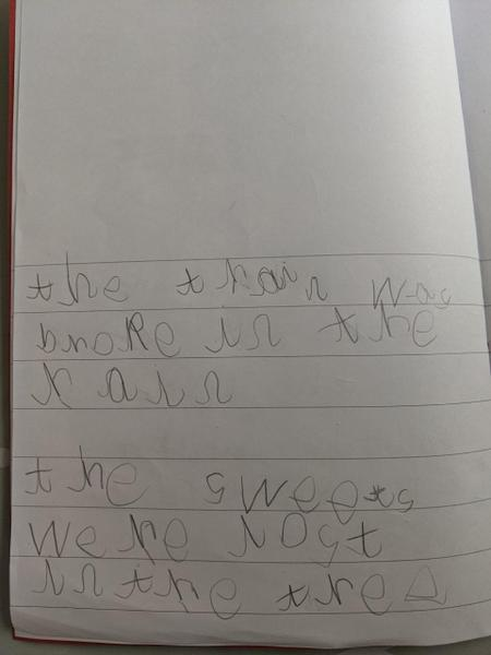 Lovely sentence work Sebastian this is super!