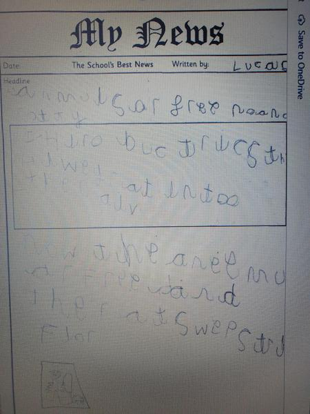 Excellent writing Lucas really pleased!