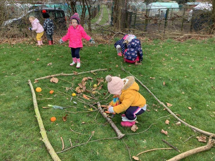 Creating wood land pictures