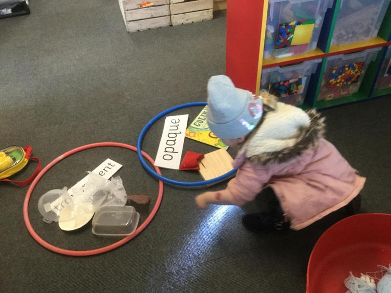 Sorting objects into transparent and opaque