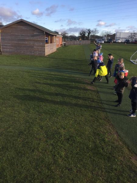 Making our own shadows on the running track