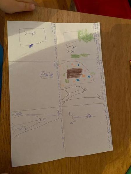 Hayden's fantastic story map!