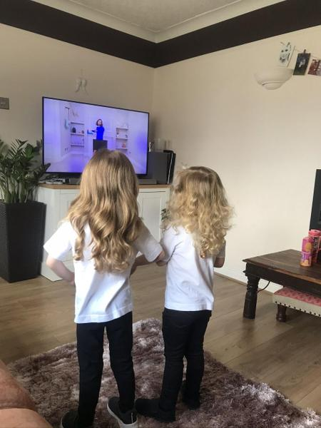 Working out with Joe Wicks Great work girls!