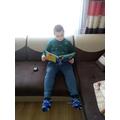 Mikolaj enjoying a book!