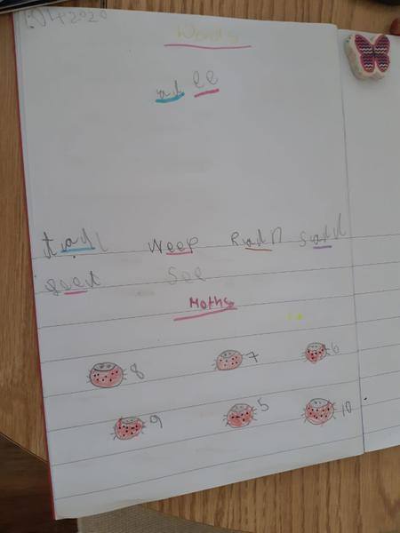 Excellent maths and phonics Hannah!