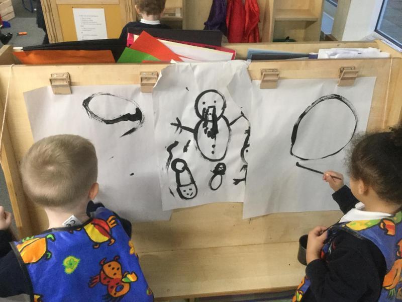 Painting snowmen