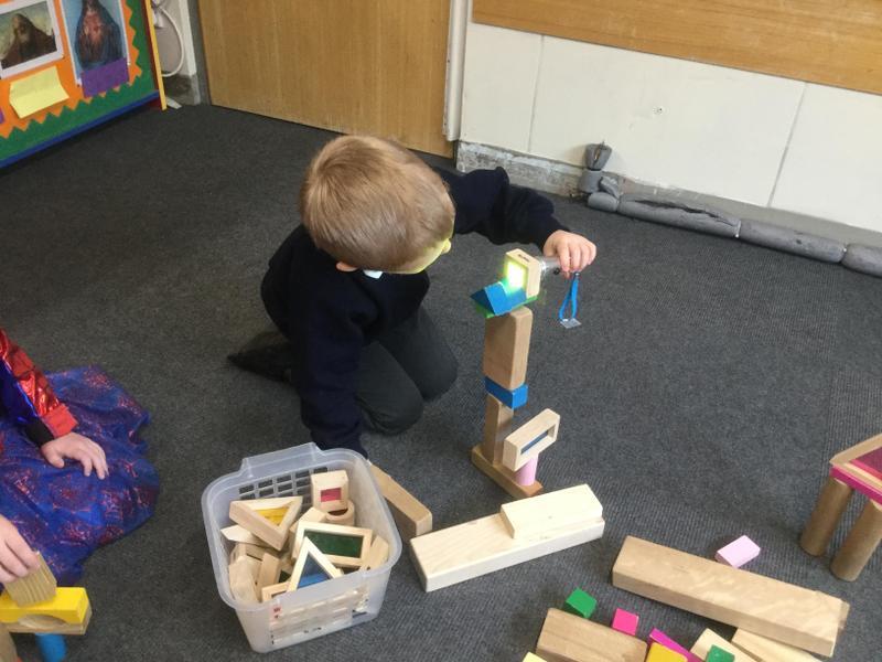 Investigating translucent blocks - construction.