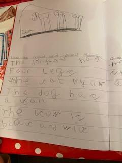 Beautiful handwriting Hayden, great work!