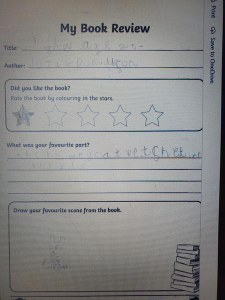 Great book review Lucas this is great!