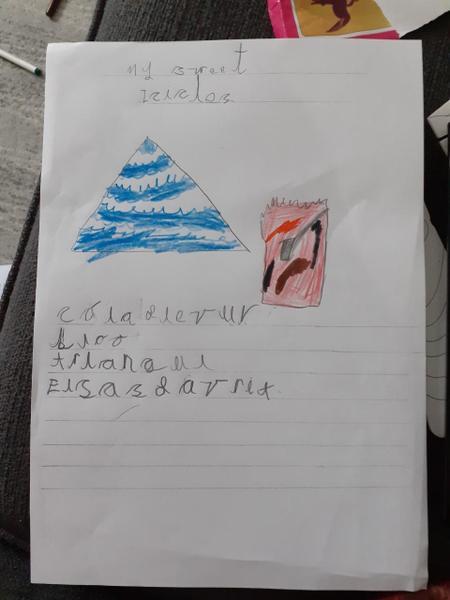 Elijah's sweet he created super writing!
