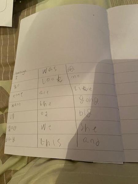 Great spelling work Hayden, lovely writing!