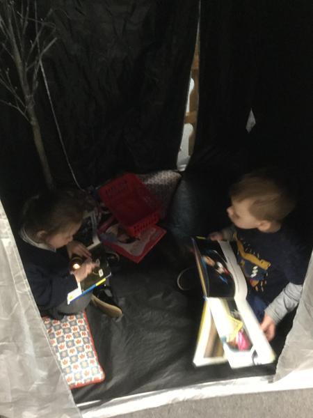 Reading in the dark den