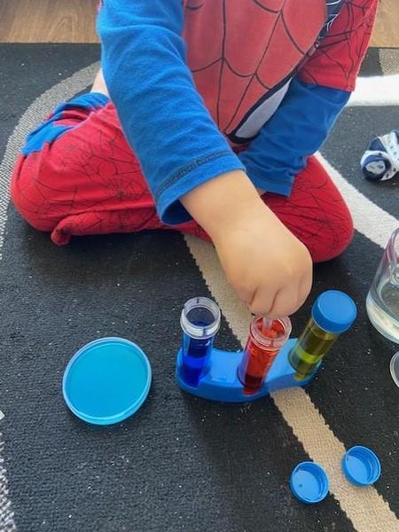 Hayden mixing colours